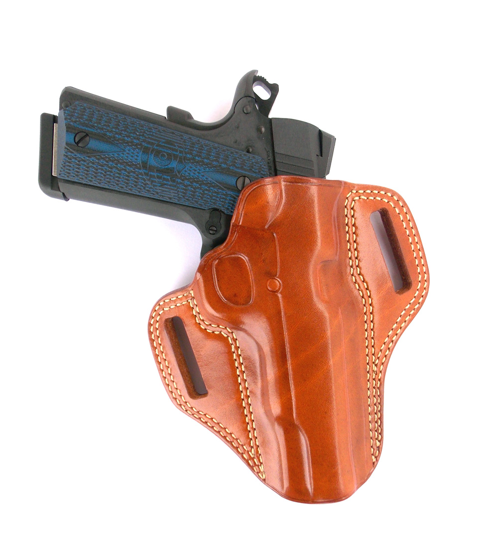 Colt Competition Pistol 1911 in a Galco leather holster