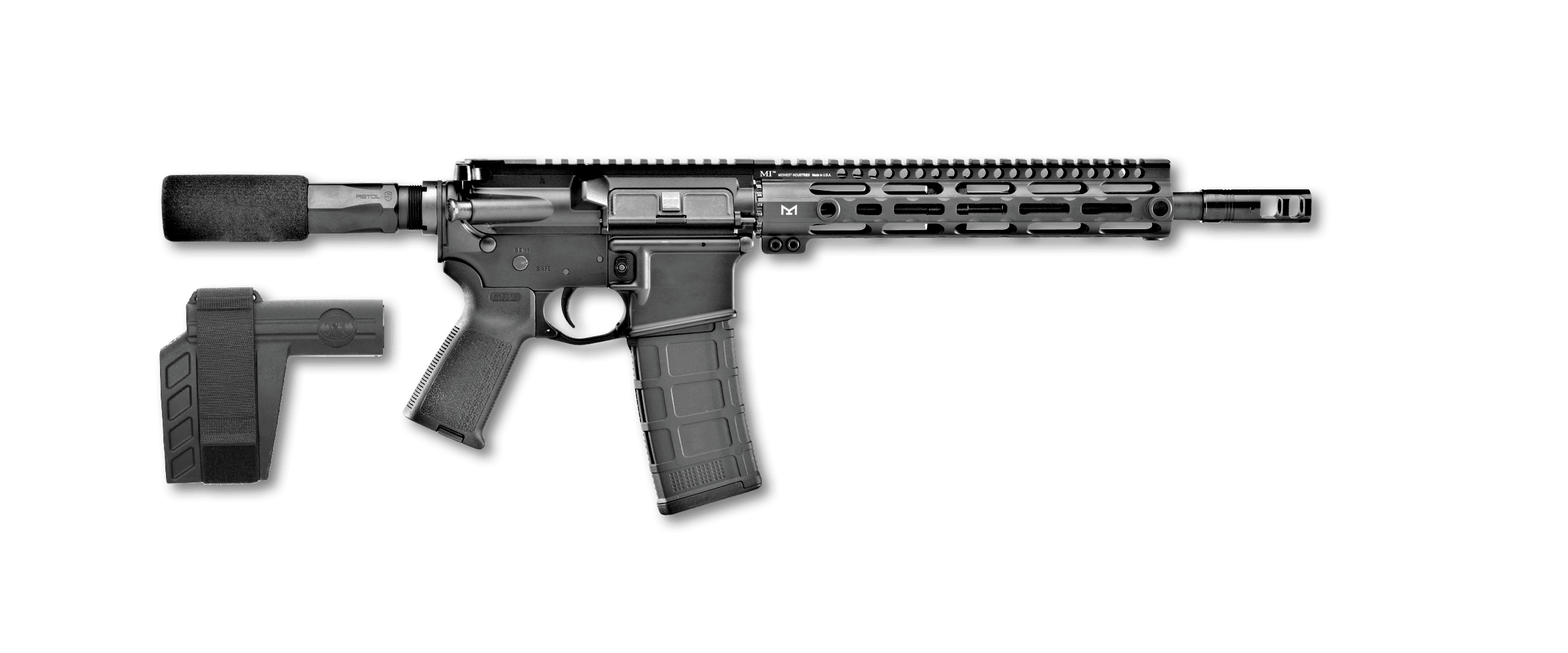 FN 15 pistol right profile black
