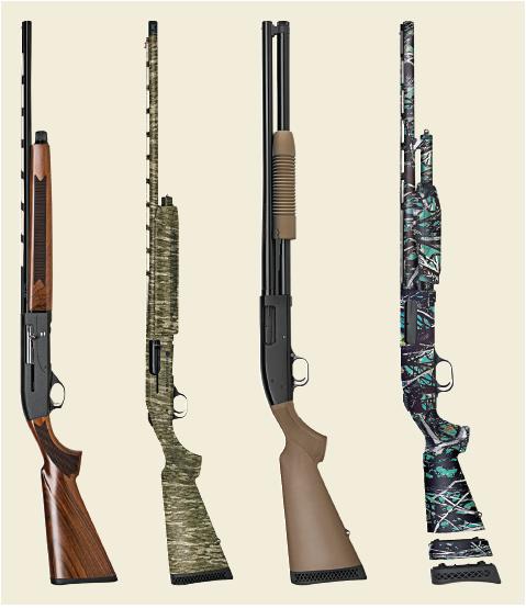 Four Mossberg shotguns