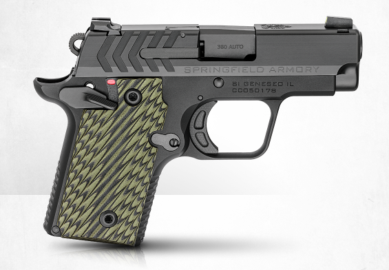 Ruger 911 pistol with green grip panels
