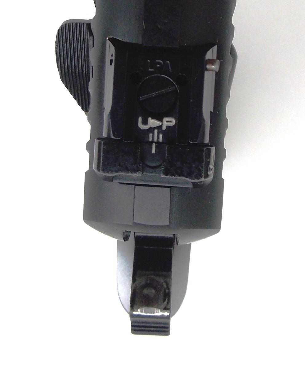 Adjustable rear pistol sight