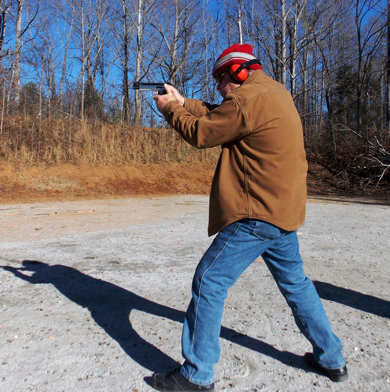 Bob Campbell shooting the EAA Elite Witness handgun