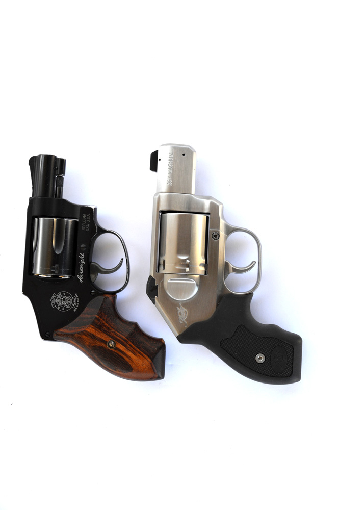 Kimber K6s top and Smith and Wesson 442 revolver bottom
