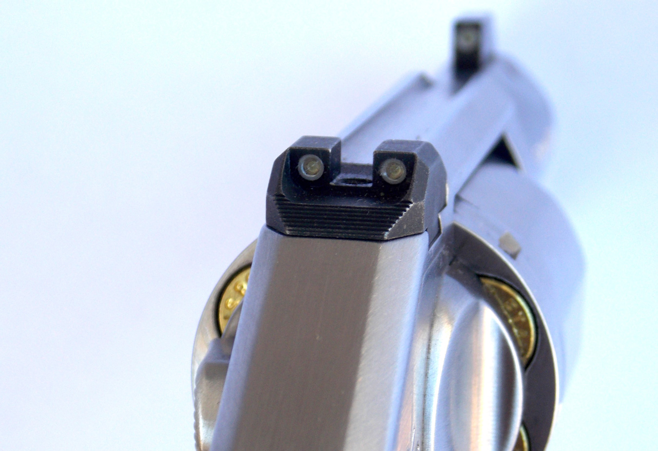 Sight picture on the Kimber K6s Revolver