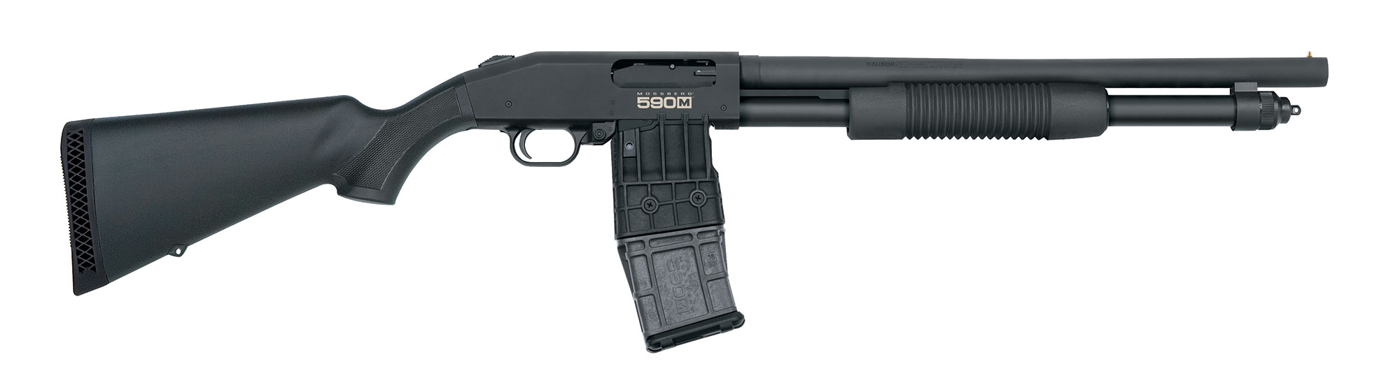 Mossberg MagFed 590 Pump shotgun right profile