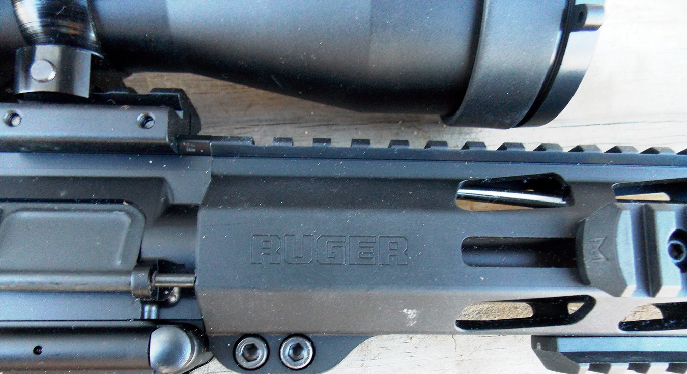 Ruger's free-floating handguard contributed to the rifle's accuracy.