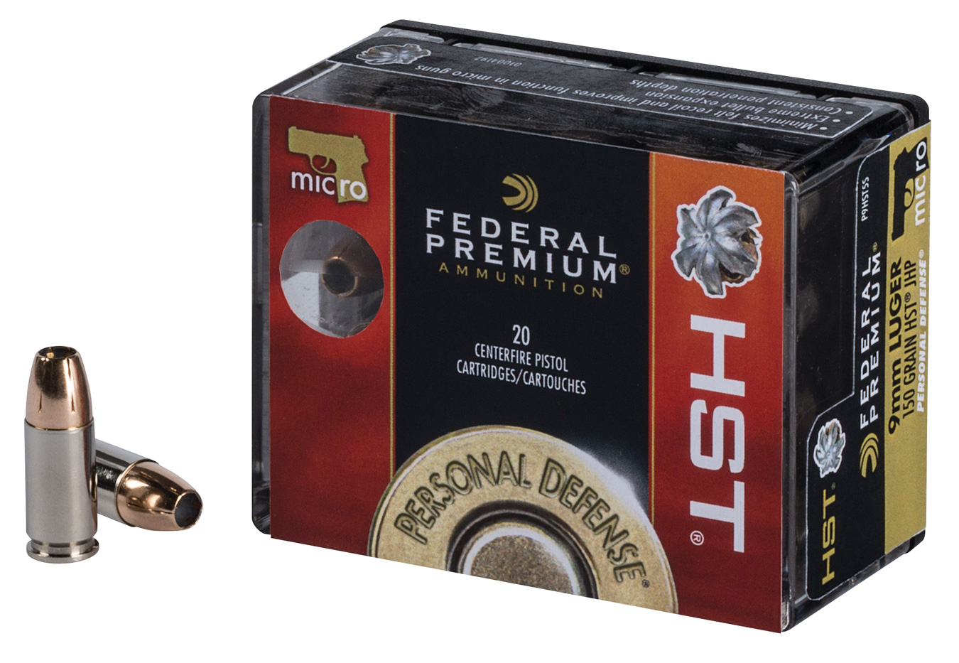 Box of Federal Premium HST ammunition
