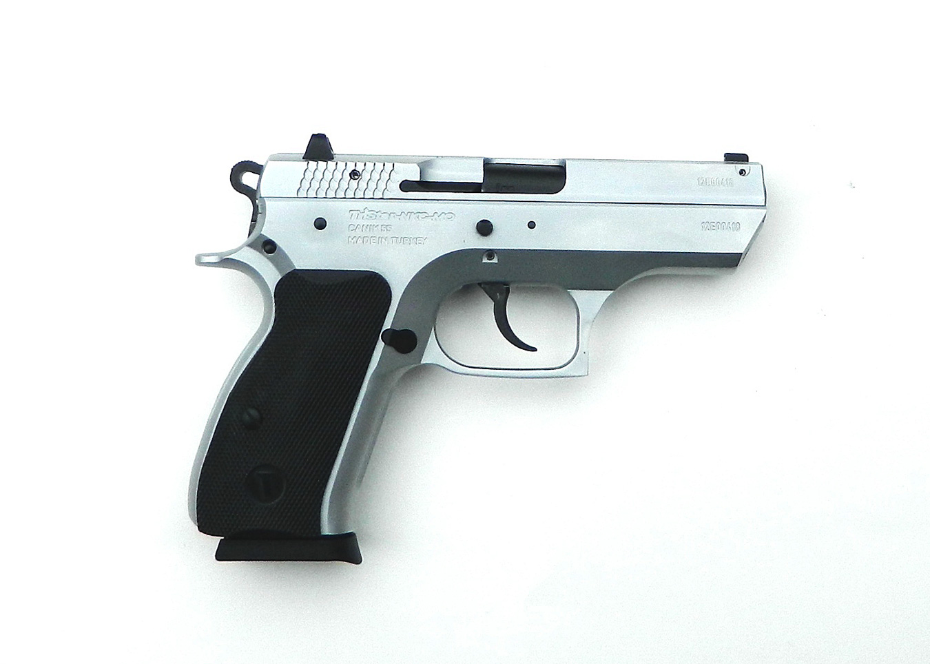 Canik C100 9mm pistol, right profile