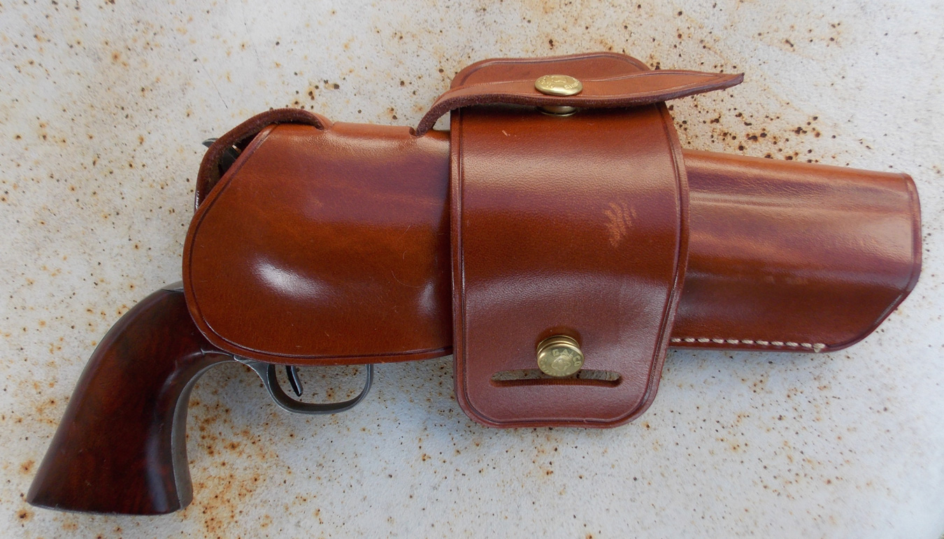 Galco Wheelgunner holster with Single Action Army revolver
