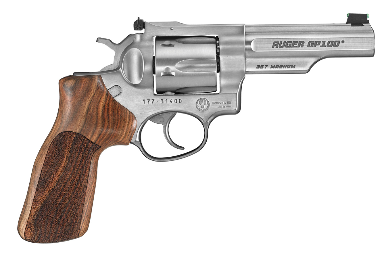 Ruger .357 revolver silver right profile