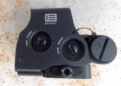 Windage and elevation controls on the EOTech HWS sight