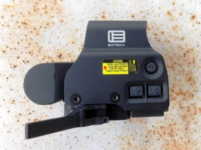 brightness controls on the EOTech HWS