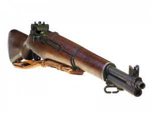 M1 Garand rifle quartering right