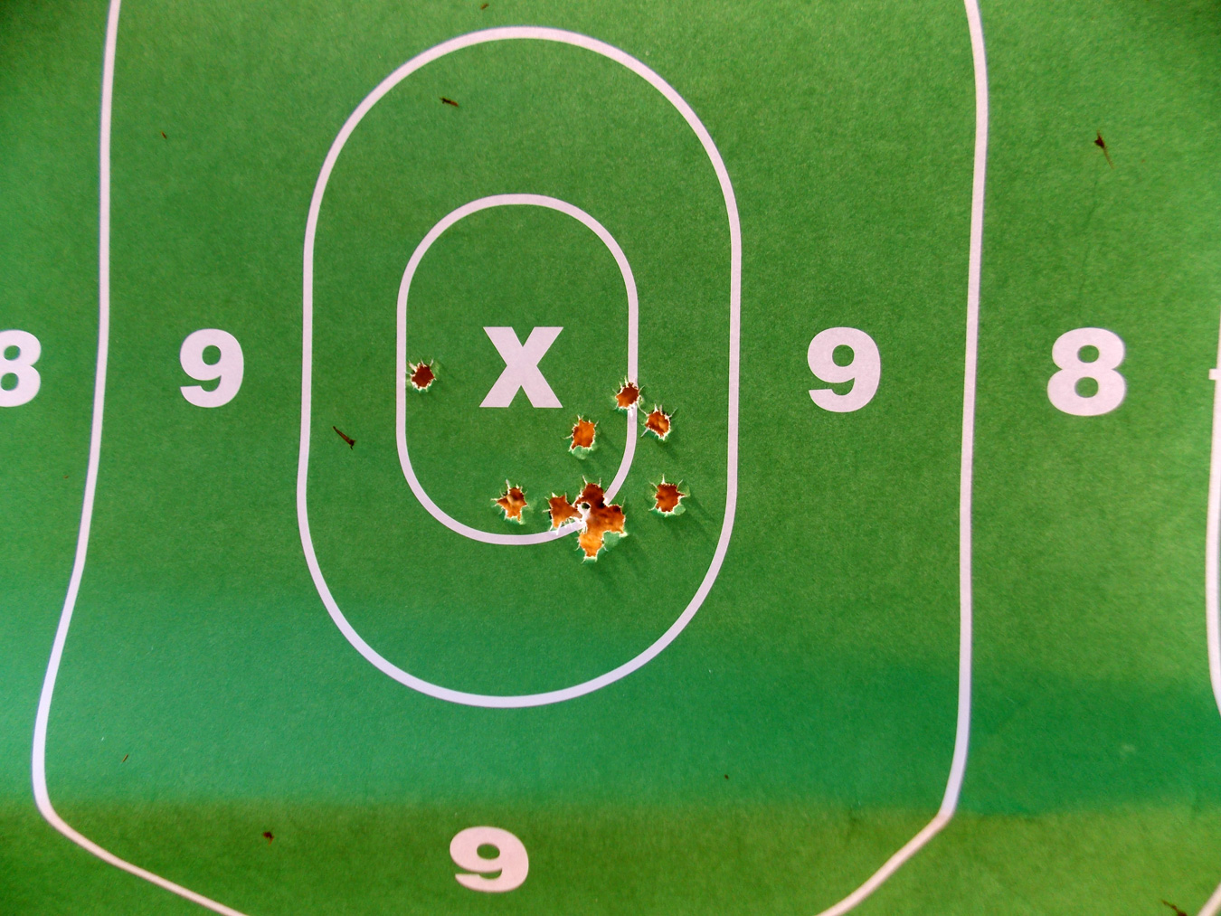target grouping at 100 yards