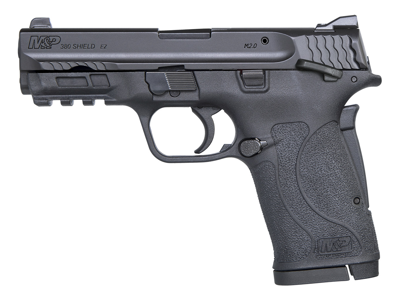 Smith and Wesson Shield .380 pistol, left profile black