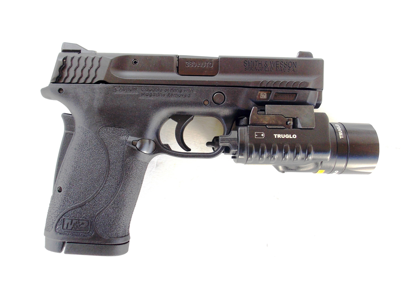 Smith and Wesson shield with TruGlo combat light