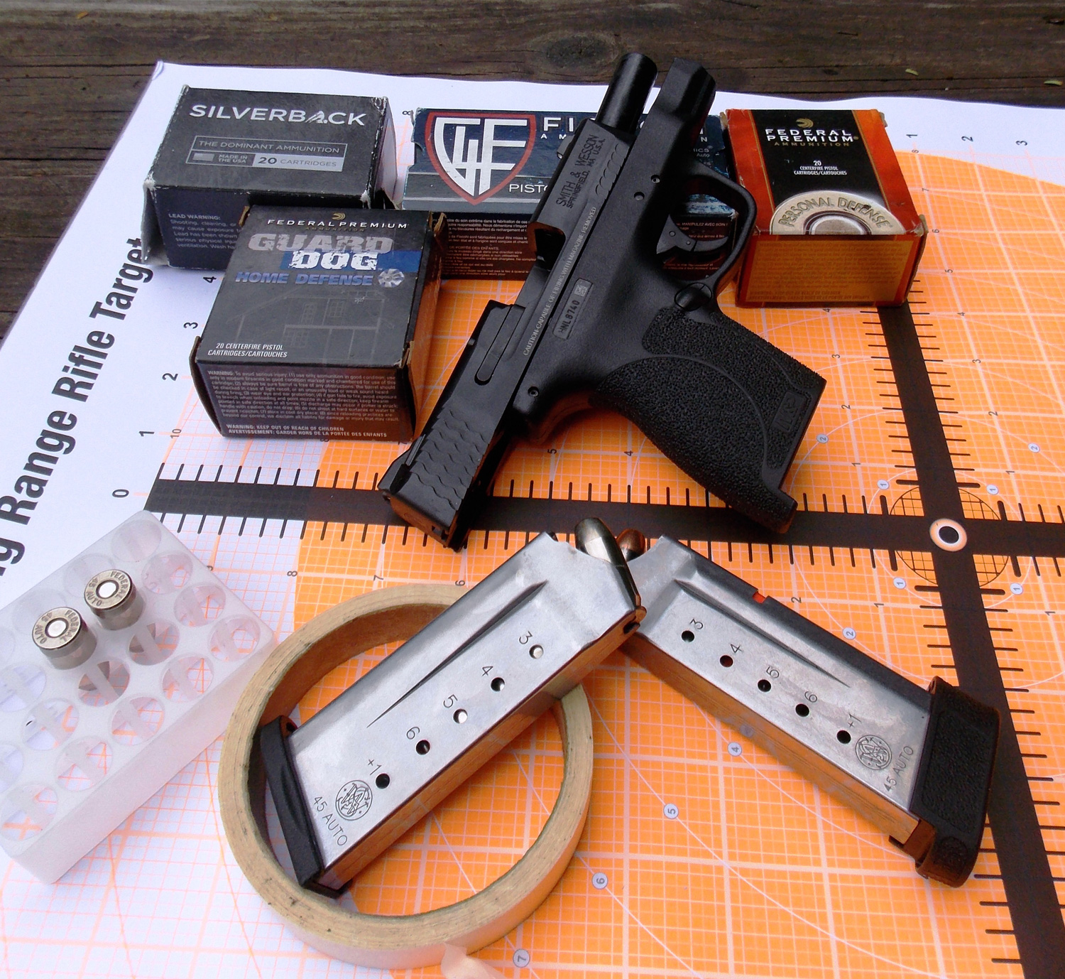 Smith And Wesson S Big Bore 45 Acp Shield The Shooter S Log