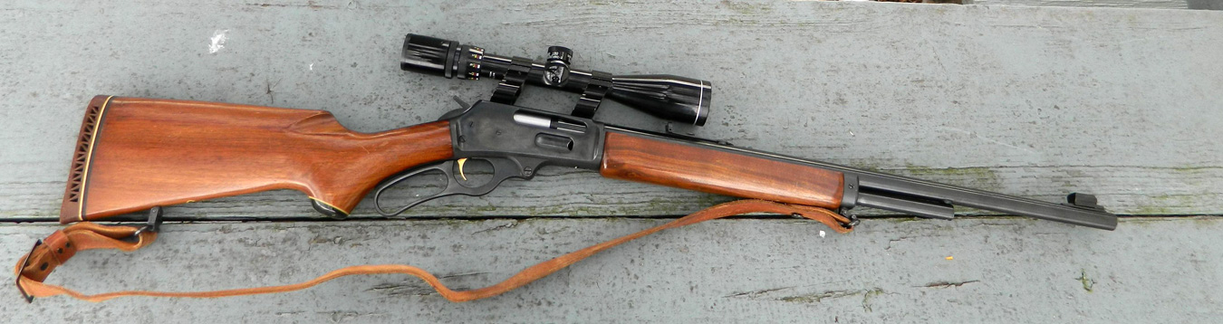 This is the author's .444 Marlin rifle. It is rugged, reliable, and, most of all, powerful!