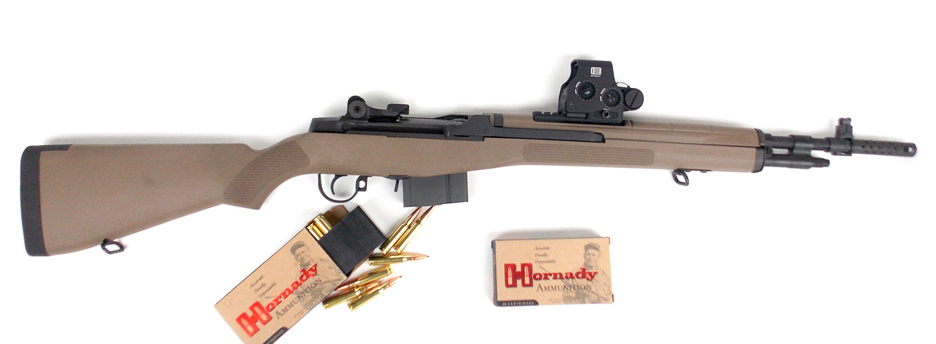 Springfield M1A rifle with Hornady ammunition