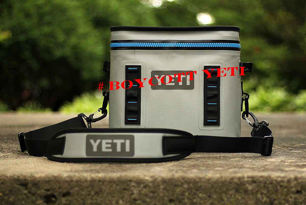 Yeti Cooler with #Boycott YETI