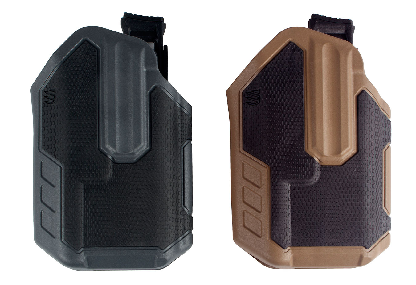 Black and brown Blackhawk! Omnivore holsters