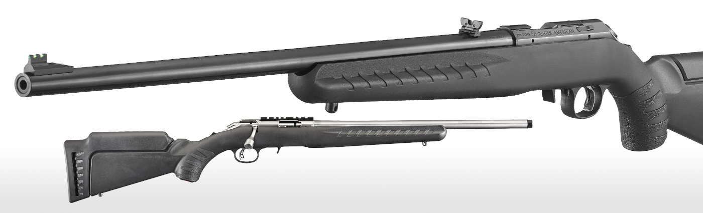 The Ruger American Rimfire is a clean design.