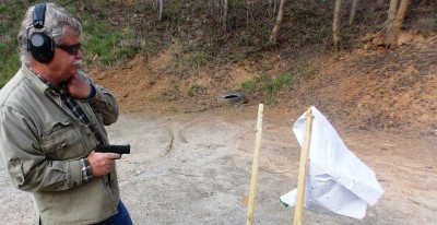 firing the SIG P365 pistol from the retention position