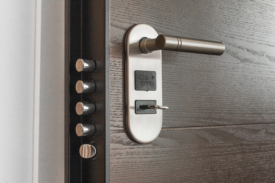 Modern door lock with multiple bolts