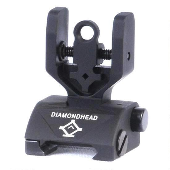 Diamondhead AR-15 Hybrid Flip-Up Rear Combat Sight