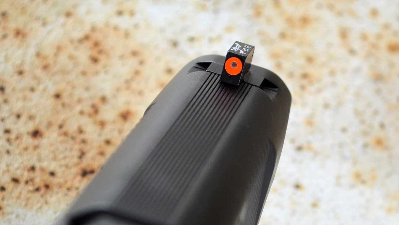 Modern night sights are excellent for personal defense use.