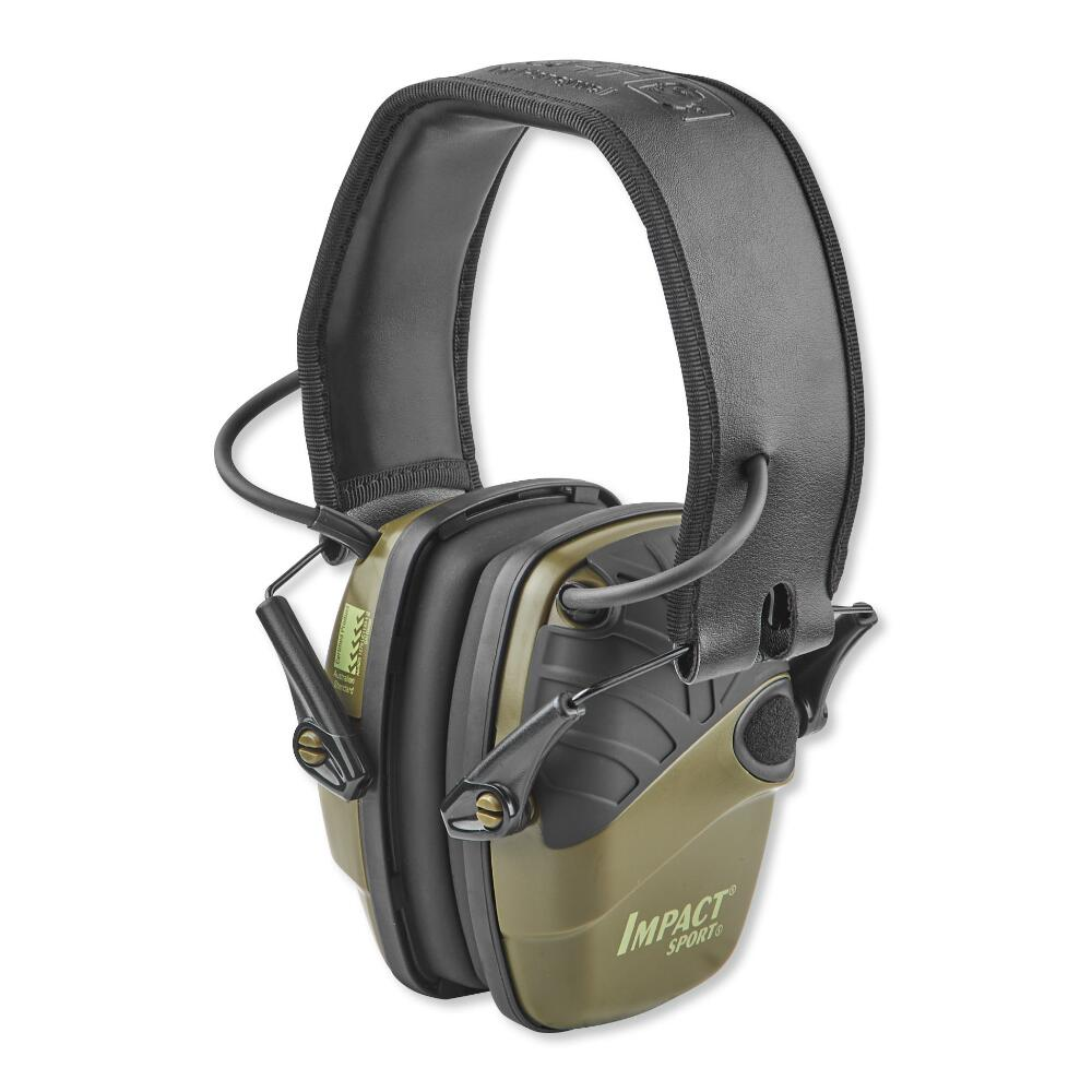 Howard Leight Impact Folding Electronic Earmuffs Hunter Green
