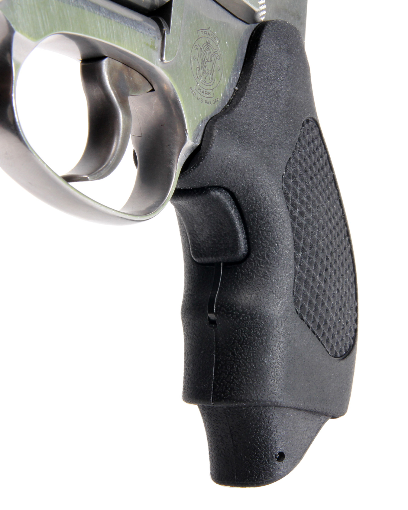 Pachmayr Guardian grip with finger extension extended on revolver
