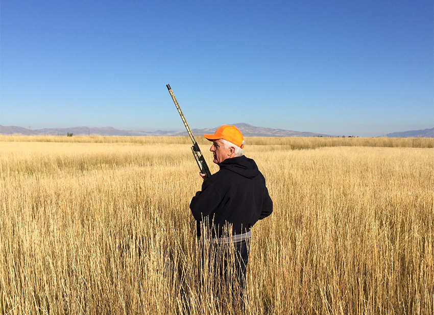 U.S. Representative Rob Bishop hunting pheasants