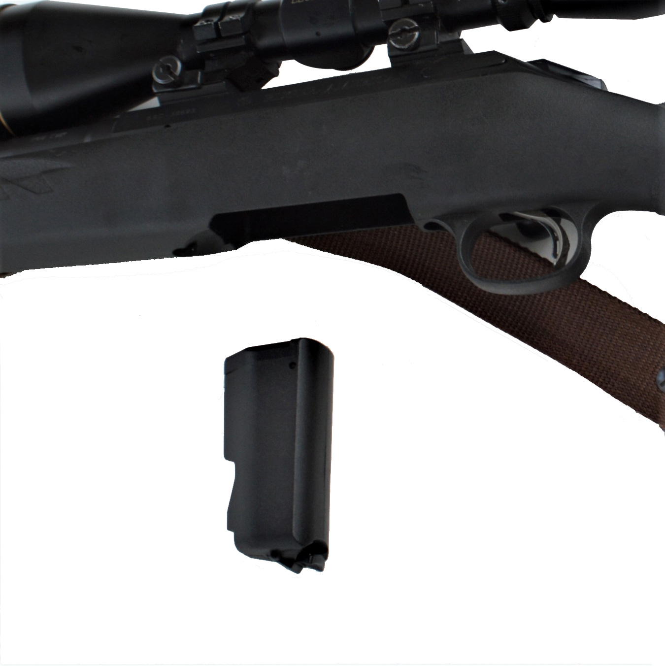 Ruger American rifle with the magazine detached