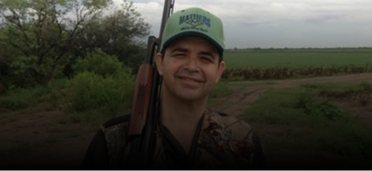 U.S. Representative Henry Cuellar enjoys hunting doves in South Texas with a 12 gauge pump shotgun.