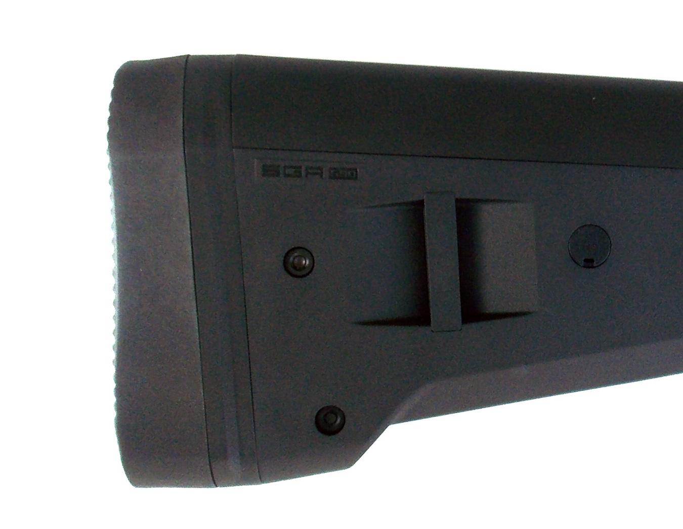 Sling adjustment lugs on the Magpul SGA stock