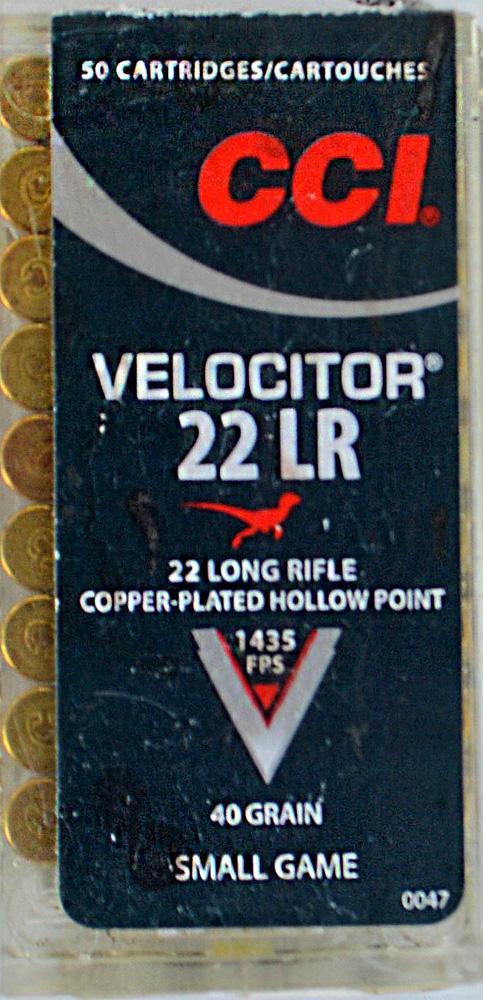CCI Velocitor .22 LR ammunition