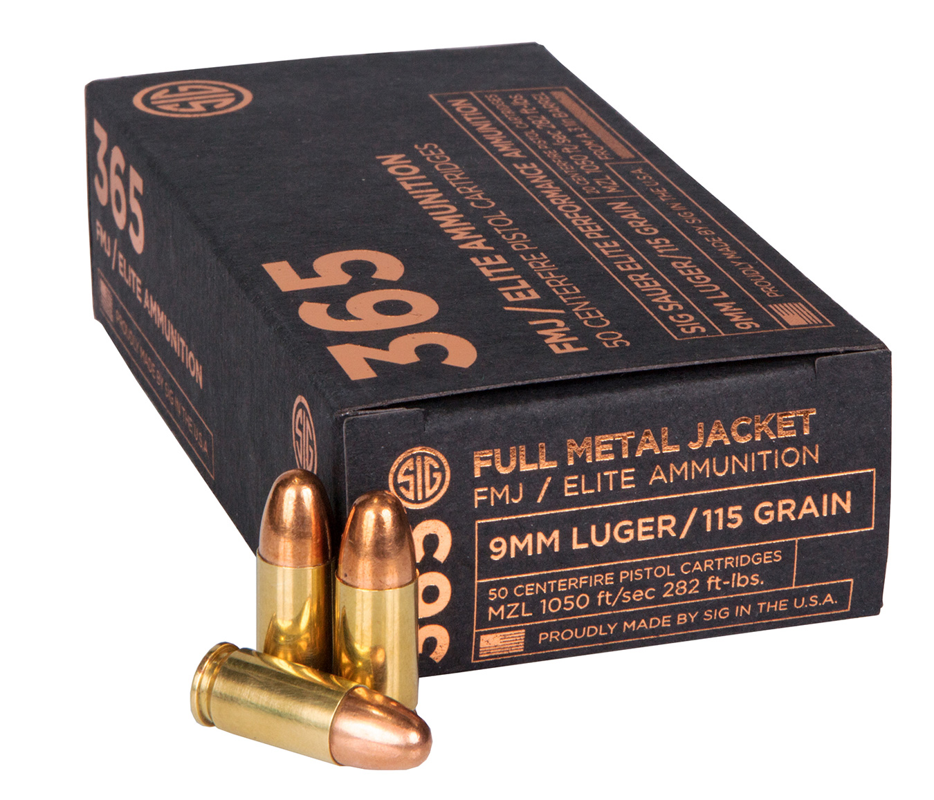 SIG 365 full metal jacket ammunition box