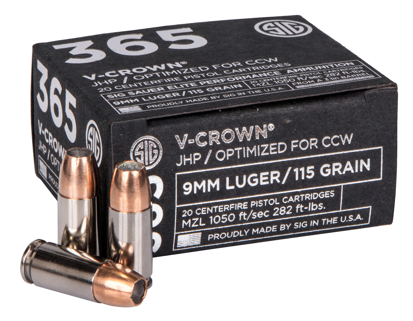 SIG V Crown 365 ammunition box