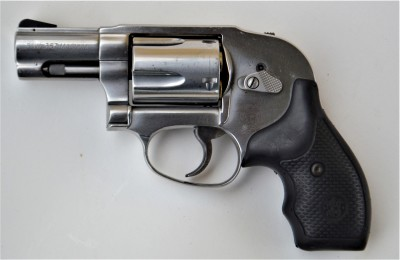 Smith and Wesson 649 .357 Magnum revolver left profile