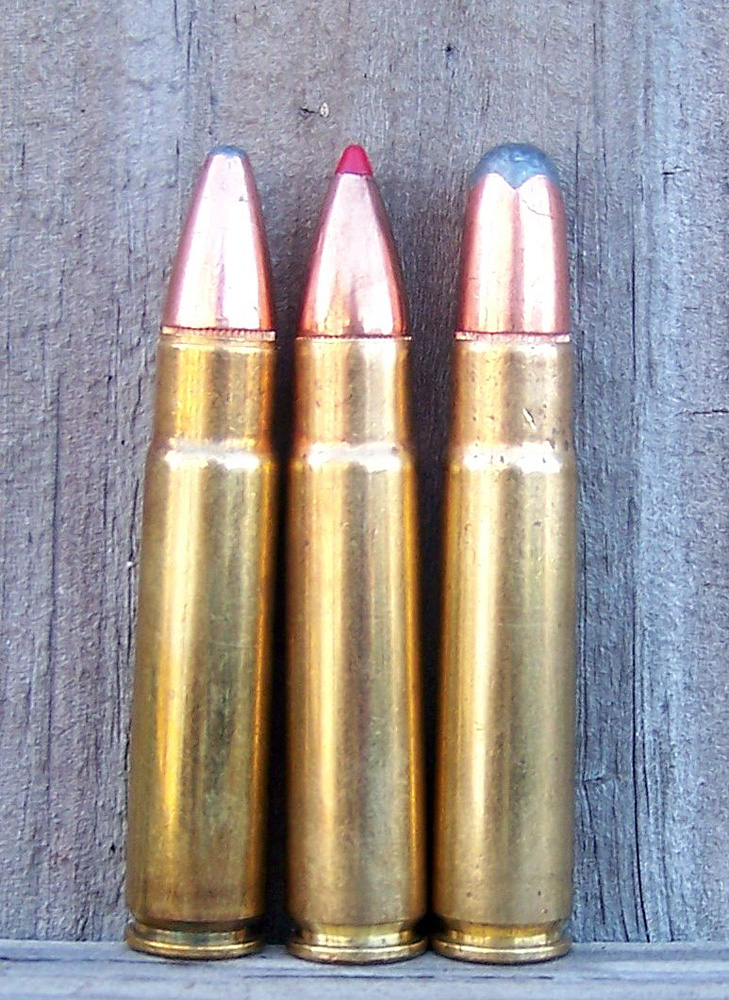 Three rifle cartridges styles