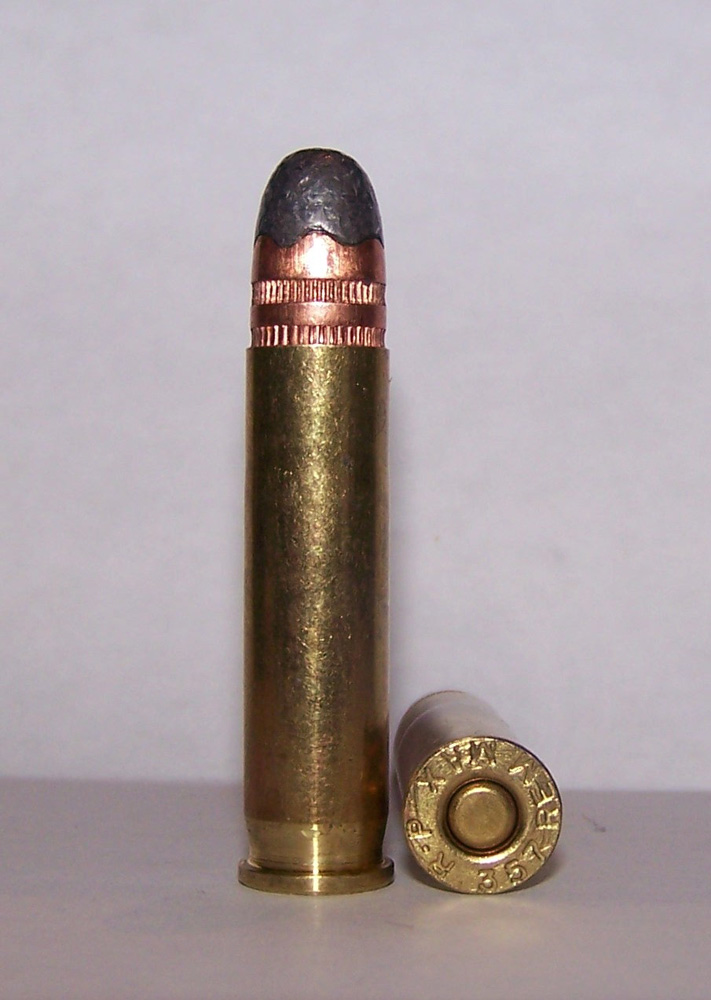 a 180-grain .357 loaded into a .351 Winchester case