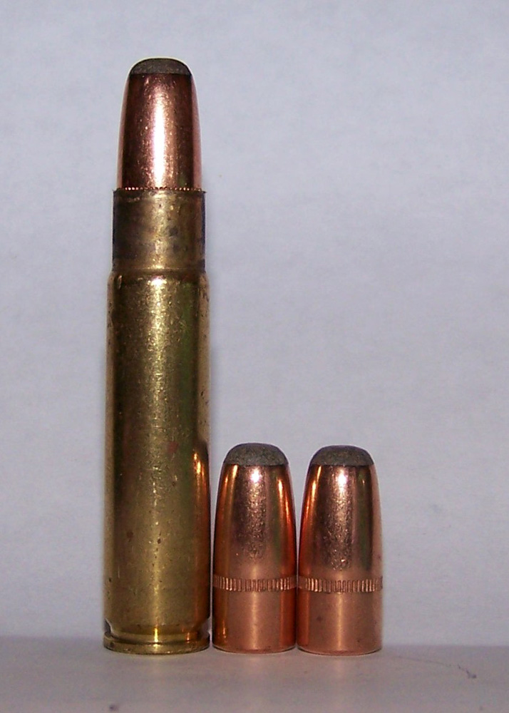 .35 Remington cartridge and bulets