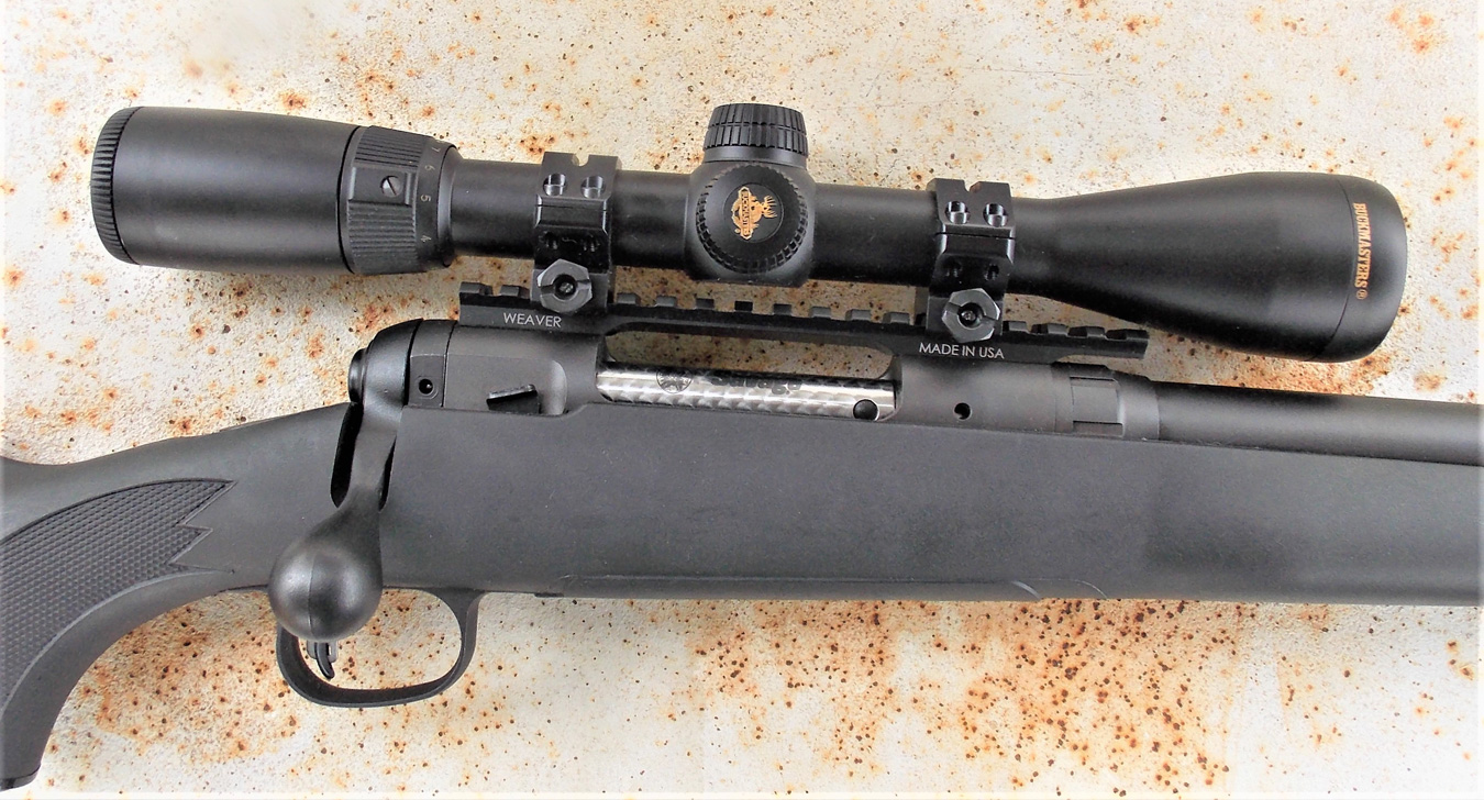 Savage .308 rifle with rifle scope