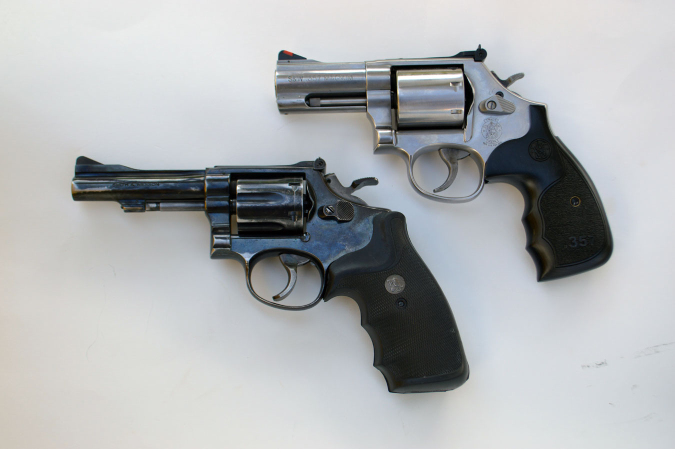 Smith and Wesson L frame and K frame revolvers