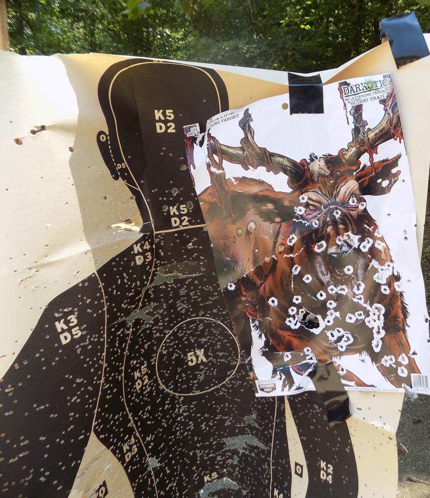 10-yard shotgun pattern