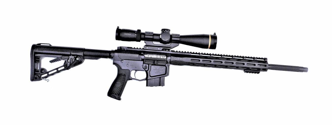 Leupold scope mounted on a Wilson Combat Super Sniper AR-15