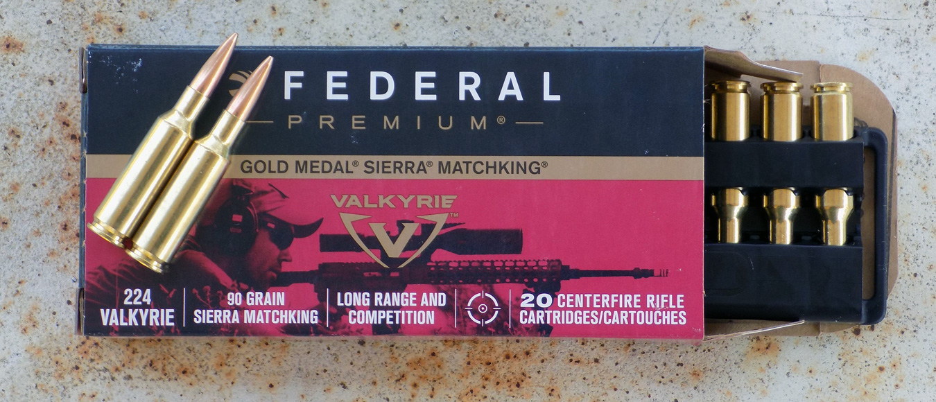 Box of Federal Premium .224 Valkyrie ammunition