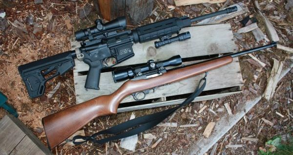 Ar-15 rifle and Ruger 10/22 Rifle