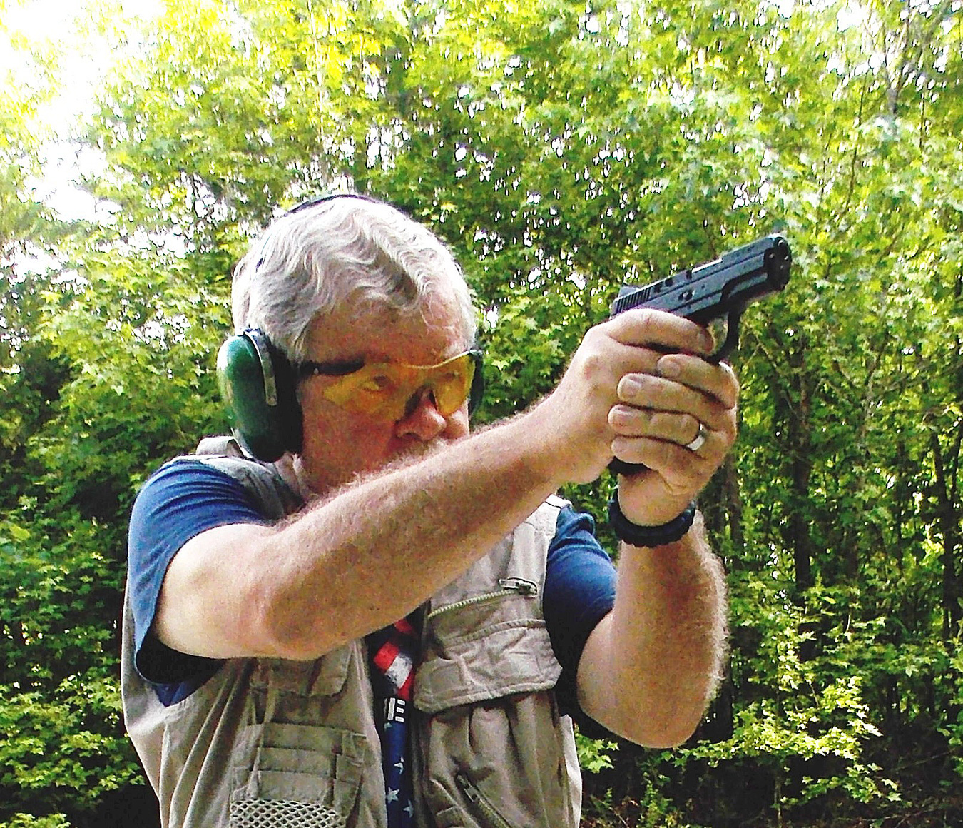 Bob Campbell shooting the CZ Rami handgun